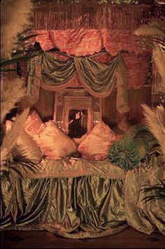 Sumptuous boudoir. Showgirl Roxy Velvet's pad. By Sera of London