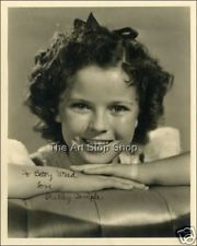 SHIRLEY TEMPLE SIGNED PHOTO PRE PRINT
