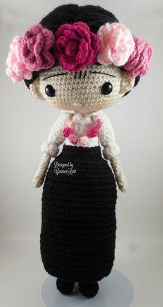 ❤ Frida (Carmen) Amigurumi Doll Crochet Pattern PDF by CarmenRent