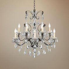 """Schonbek Century Collection 30"""" Wide Crystal Chandelier - 1,770.00  29.5 high by 30 wide bronze finish heritage crystal"""