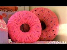 How To Crochet A Yummy Large Donut Pillow ~ Tutorial, My Crafts and DIY Projects