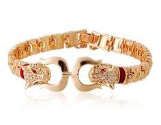 I checked out Leopard Design 18K RGP Alloy Bracelet (Gold) on Lish, $40.00 CAD