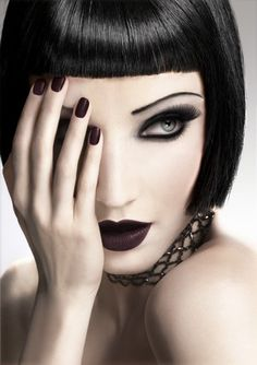Goth glam. If you're going goth, keep it classy.