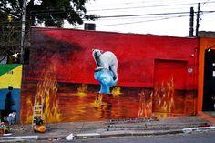 street art Cultura Inquieta 16 El mundo se quema, por Eduardo Kobra