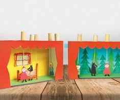 Puppentheater selber machen Puppentheater selbstgemacht Mehr The post Puppentheater selber machen appeared first on Paper Diy. Paper Crafts For Kids, Diy Paper, Diy And Crafts, Castle Theme Classroom, Puppets For Kids, Punch And Judy, Paper Games, Origami Box, Cardboard Crafts