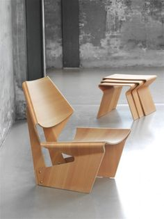 Grete Jalk GJ Chair and GJ Table from Lange Production