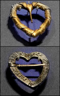 Heart-shaped jewellery  Probably England or Franc, about 1400-1500