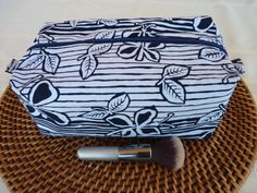 Handcrafted Batik Boxy Zipper Cosmetic by AShop4Kicks on Etsy