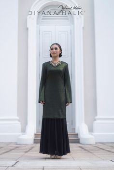 Green Glam Kurung
