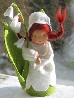 Puppen - Blumenkind Maiglöckchen Jahreszeitentisch - ein Designerstück von Blumenkind012 bei DaWanda