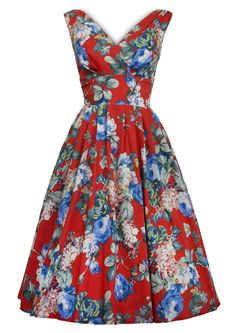 1950s Trudy Scrumptious Day Dress - Fashion 1930s, 1940s & 1950s style - vintage reproduction £98
