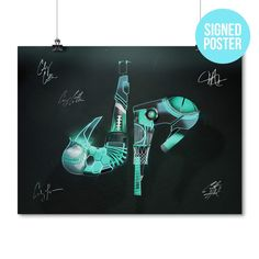 Dude Perfect Hero Poster Autographed Hanging
