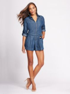 3639296820be Zip-Front Romper - Gabrielle Union Collection