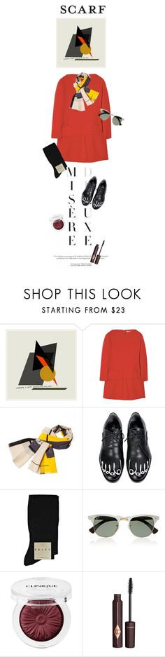 """""""Nikita"""" by hanraven ❤ liked on Polyvore featuring Victoria, Victoria Beckham, Infinity, Falke, Ray-Ban, Clinique and Charlotte Tilbury"""