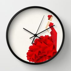 The Dancer (Flamenco) Wall Clock by VessDSign - $30.00