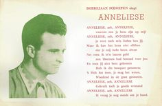 Bobbejaan Schoepen. Dutch postcard by Editie Harry Botschuijver, Amsterdam, no. A 15. Retail price: 18 ct. Photo: World Music Company, Bruxelles. The song Anneliese (1953) was composed by Hans Arno Simon (music) and Aleda-Jan Reno (Dutch text).