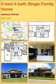 5-bed 4-bath Single Family Home in Sanford, Florida ►$674,990 #PropertyForSale #RealEstate #Florida http://florida-magic.com/properties/12229-single-family-home-for-sale-in-sanford-florida-with-5-bedroom-4-bathroom