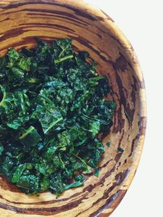 Massaged Kale Salad - Used Regular Kale, and just massaged with juice of 1 lemon and salt.  Added the oil after it was massaged.  Very yummy!
