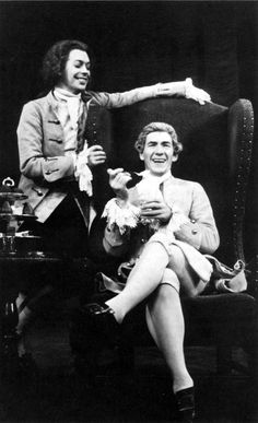 Tim Curry and Ian McKellen in Amadeus: Broadway, 1980 - oh lord, I need a time machine so I can go back and see this!