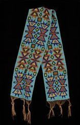 Native American Beadwork Winnebago Loom Weave Sash Circa 1890'S | eBay