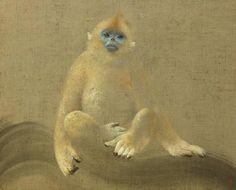 Golden Monkey  「ゴールデンモンキー」・15F(2004年) ゴールデンモンキーは中国西部、チベットに生息する 「金絲猴(きんしこう)」 という猿だ。 最も寒冷な地に生息する猿として知られ、チベットでは標高3000メートルの山地に生息する。 国際自然保護連合 IUCN のレッドリストでは 「絶滅危惧II類」に分類。 また中華人民共和国では国家一級重点保護野生動物に指定されている。 2004年の個展 「ANIMA MUNDI」では、インドや中国を中心にアジアの動物を描いた。 地球環境が急速に脅かされる中、彼らの存在はとても脆弱である。 儚いその姿が消えてしまわぬうちに、ひとつひとつノアの箱舟に乗せていくような気持ちで描いた。