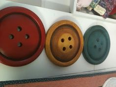 Decorative wall buttons at Hobby Lobby