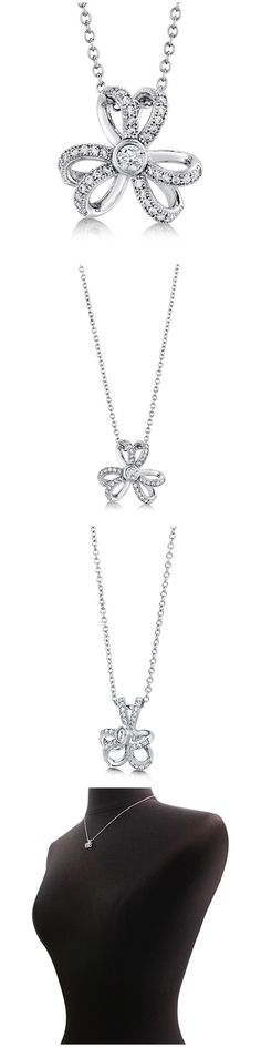 Sterling Silver CZ Flower Fashion Necklace