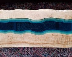 Sold - Epoxy stream coffee table - coffee table - live edge coffee table - epoxy and wood table - epoxy table - epoxy coffee table Large Square Coffee Table, Black Coffee Tables, Glass Top Coffee Table, Glass Table, Live Edge Tisch, Live Edge Table, Cedar Furniture, Resin Furniture, Resin Table