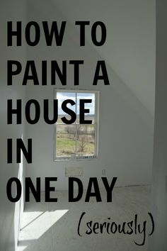 Prime and paint an entire house ... in a day?