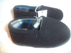 Infant Soft Sole Slipper Shoes Black Rubber sole Size 9-10  Slippers 95b1f3eace4d