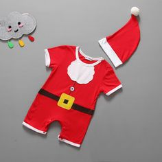 1pcs/Lot Christmas Gift Hot Sale Baby Rompers Santa Claus Clothes Children Romper Newborn Boys&girls Rompers for Kids