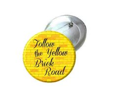 1 1.25 or 2.25 Pinback Button  Wizard of Oz Follow the by MayoBass