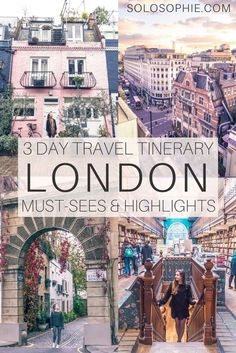 How to spend three perfect days in London itinerary. Your complete guide on where to go and what to do in 72 hours in the UK capital city, London, England.