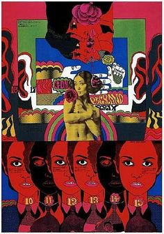 Keiichi Tanaami is arguably the Milton Glaser of Japan. A prolific image-maker, designer and artist with a penchant for the off-beat and psychedelic. Psychedelic Art, Collages, Collage Art, Keiichi Tanaami, Dragonfly Wings, Kunst Poster, Poster Poster, Japan Design, Arte Popular