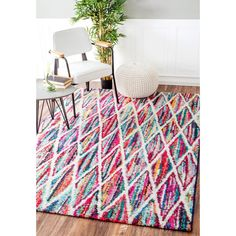 nuLOOM Contemporary Rainbow Striped Multi Kids Rug (8' x 10') | Overstock.com Shopping - The Best Deals on 7x9 - 10x14 Rugs