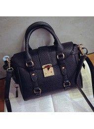 P814-BLACK Material : PU leather Height: 20cm Length: 27cm Depth: 10cm Bag Mouth: Zipper  Long Strap: yes 1kg  ..