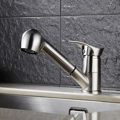 Potomac Deck Mount Kitchen Sink Faucet with Pull Out Sprayer with Hot Cold Mixer