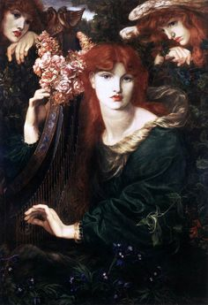Dante Gabriel Rossetti, La Ghirlandata, 1873, Oil on canvas, Guildhall Library and Art Gallery, London