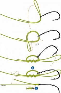 Now you know how to tie a hook on the end of the line! #Fishing #Camping #Outdoors