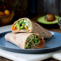 Whole-Wheat Veggie Wrap - EatingWell.com
