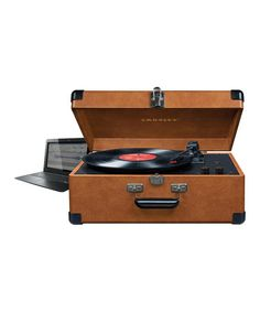 Take a look at this Tan Deluxe Keepsake USB Turntable by Crosley on #zulily today!