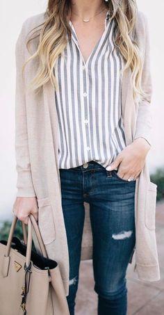 #fall #outfits  women's beige maxi cardigan