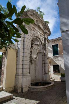 Fountain Ca' Rezzonico Venice Italy
