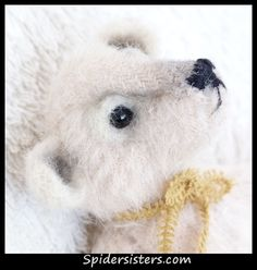 Therman, Original Spiders Sisters design Mini Polar bear made from mohair fabric from 1951!  for sale now on ebay item #151128230123 Please stop by and see what else we have listed. :)