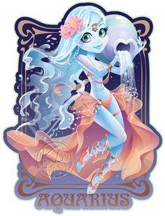 Aquarius by KelleeArt.deviantart.com on @deviantART