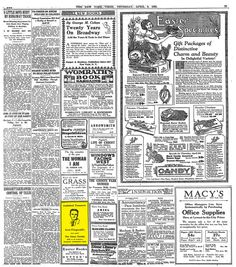 The Great Gatsby was published 90 years ago. This is the tiny ad it got on April 9, 1925.