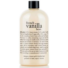 philosophy french vanilla bean ice cream 3-in-1 shampoo shower gel &... ($18) ❤ liked on Polyvore