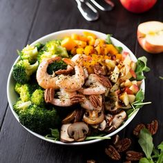 Delicious, healthy and easy Veggie Shrimp Bowl you will love!