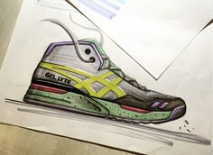 Asics gel lite shoe sketch