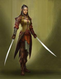 f Elf Fighter Champion Plate 2 Swords